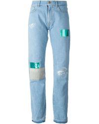 Aries Patchwork Boyfriend Jeans - Lyst