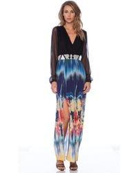 Twelfth Street Cynthia Vincent Long Sleeve Maxi Dress - Lyst