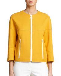 Akris Punto Twill Zip-Front Jacket - Lyst