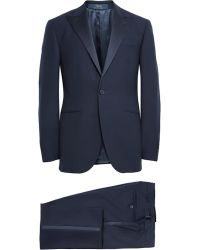Polo Ralph Lauren Navy Slim-Fit Wool Tuxedo - Lyst