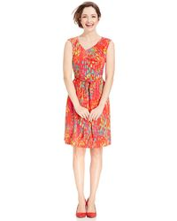 Ellen Tracy Printed A-Line Dress - Lyst