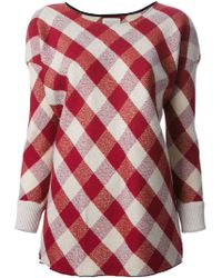 Forte Forte Gingham Check Blouse - Lyst