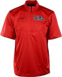 Nike Mens Shortsleeve Mississippi Rebels Halfzip Jacket - Lyst