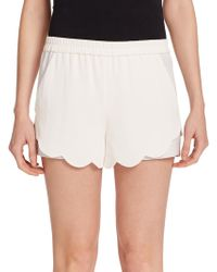 A.L.C. Aj Scalloped Shorts white - Lyst