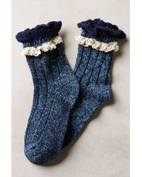 Pure + Good - Marble & Lace Crew Socks - Lyst
