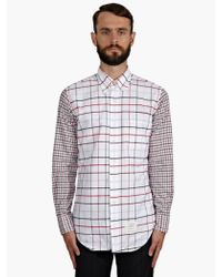 Thom Browne Mens Checked Cotton Oxford Shirt - Lyst