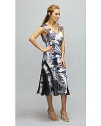 Komarov - Cap Sleeve Printed Dress - Lyst