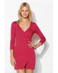 Sparkle & Fade - Surplice Bodycon Dress - Lyst