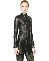 Diesel Black Gold Nappa Leather Long Jacket - Lyst