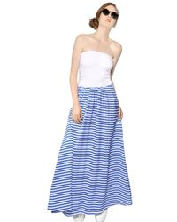 Antonio Marras Cotton and Viscose Skirt Long Dress - Lyst