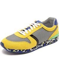Just Cavalli Mesh  Reptile Print Sneakers - Lyst