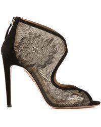 Aquazzura Black Eagle Sandals - Lyst