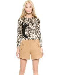Carven Printed Leopard Sweater - Multi - Lyst
