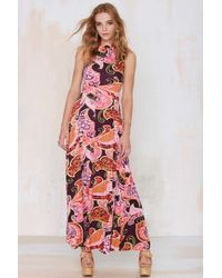 Nasty Gal Vintage Psyched Maxi Dress - Lyst