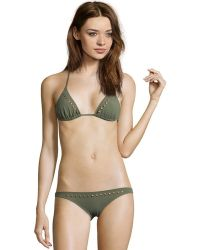 Melissa Odabash - Green 'barbados' Studded String Two-piece Swimsuit - Lyst