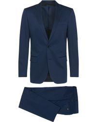 BOSS | 'huge/genius' | Slim Fit, Stretch Cotton Suit | Lyst