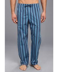 Calvin Klein Blue Pajama Pant - Lyst