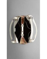 Burberry The Small Canter In Leather And House Check - Lyst