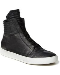 Helmut Lang Textured Leather High Top - Lyst