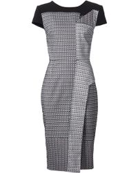 Roland Mouret Fitted Paneled Dress - Lyst