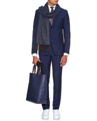 Richard James - Herringbone Silk And Cashmere-Blend Scarf - Lyst