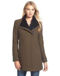 CALVIN KLEIN 205W39NYC - Asymmetrical Double Face Wool Blend Coat - Lyst