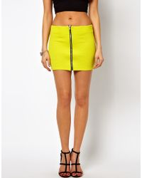 Oh My Love Mini Skirt with Zip Front - Lyst