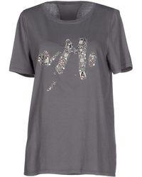 Anna Molinari T-Shirt gray - Lyst