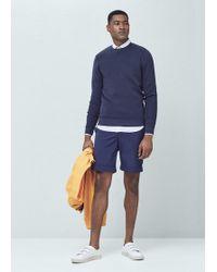 Mango | Ribbed Cotton-blend Sweater | Lyst