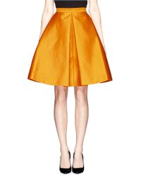 Chictopia - Pleated Alined Skirt - Lyst