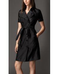 Burberry Silk Trench Dress - Lyst