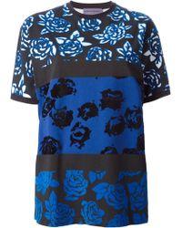 Emanuel Ungaro Mixed Rose Print Tshirt - Lyst