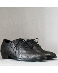 Haider Ackermann Asteria Iridescent Leather Oxford - Lyst