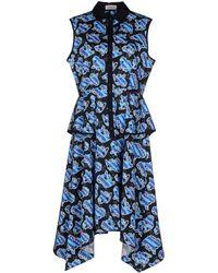 Calla - Cotton Poplin Elastic Lilly Print Dress - Lyst