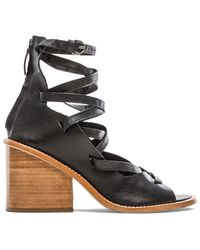Tibi Finch Leather Sandals - Lyst
