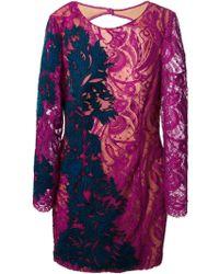 Emilio Pucci Floral Lace Dress - Lyst