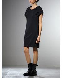 Patrizia Pepe Short Dress in Wool Jersey - Lyst