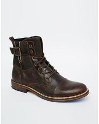 Aldo Hyatt Leather Boots - Lyst