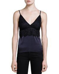 The Kooples - Satin & Lace Cami - Lyst