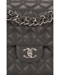 b54df265ab3d15 Madison Avenue Couture - Chanel Dark Grey Quilted Caviar Classic Jumbo  Double Flap Bag - Lyst