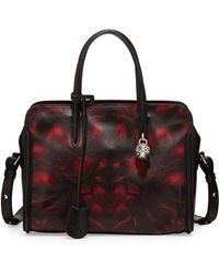 Alexander McQueen Tulip-print Padlock Zip-around Satchel Bag - Lyst