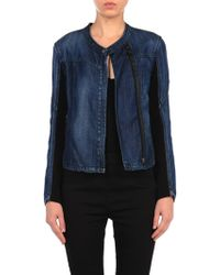 Blank Denim Jacket - Lyst