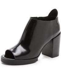 Cheap Monday - Layer Peep Toe Booties Black - Lyst