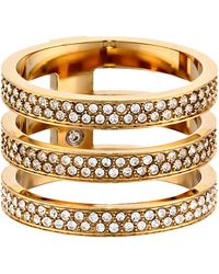 Michael Kors Tri Stack Open Pave Bar - Lyst