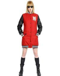 That's It Wool Faux Leather Varsity Jacket - Lyst