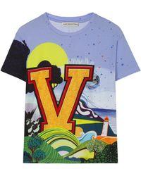 Mary Katrantzou V For Victory T-shirt - Lyst