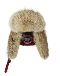 Canada Goose - Fur Trim Aviator Hat - Lyst