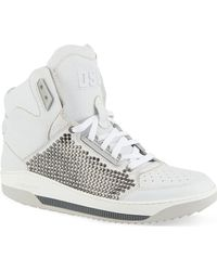 DSquared2 Studded Hi-top Trainers - Lyst