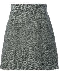 Dolce & Gabbana Herringbone Aline Skirt - Lyst