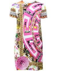 Versace | Printed Shift Dress | Lyst